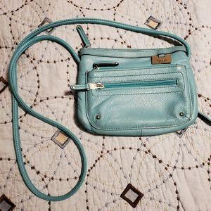 Tignanello Turquoise Leather Purse